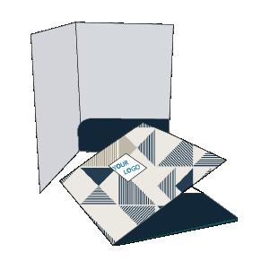 Cartellina piatta con tasca curva incollata