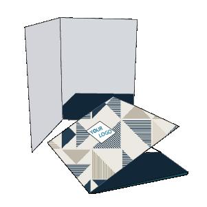 Cartellina piatta con tasca diagonale incollata